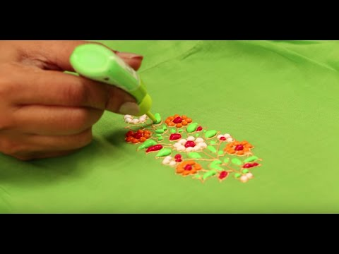 Liquid Embroidered Green Kurti Youtube