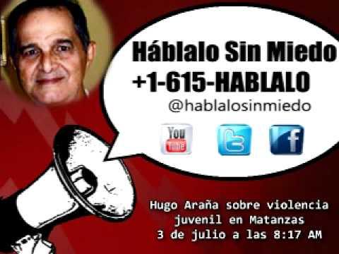 #Cuba: Hugo Araña sobre violencia juvenil en Matanzas 3/7 8:17 AM