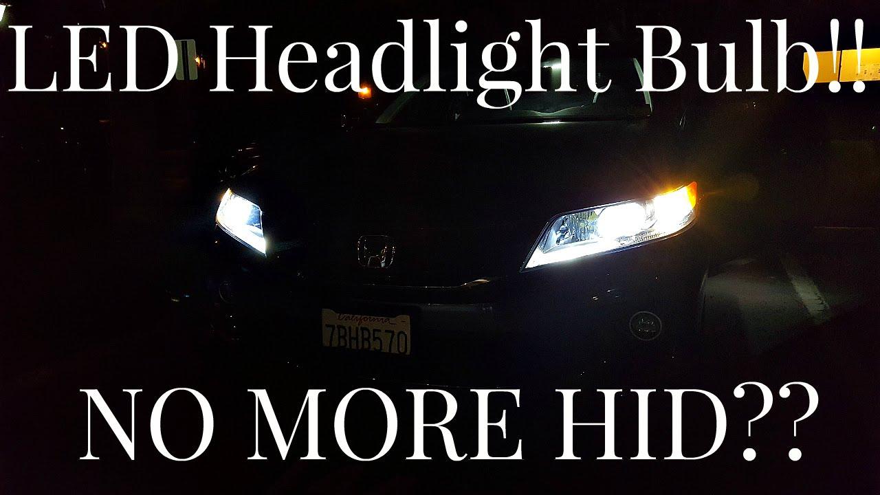 Auxbeam Led Headlight Bulb Installed Light Output Demo Youtube