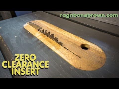 Making Zero Clearance Insert For DeWalt DW745 Tablesaw