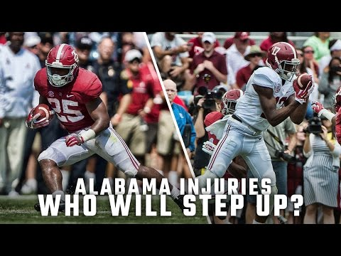 Who steps up in place of injured Alabama players?
