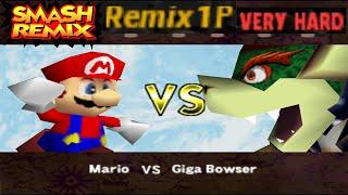 Smash Remix - Classic Mode Remix 1P Gameplay With Mario (VERY HARD)