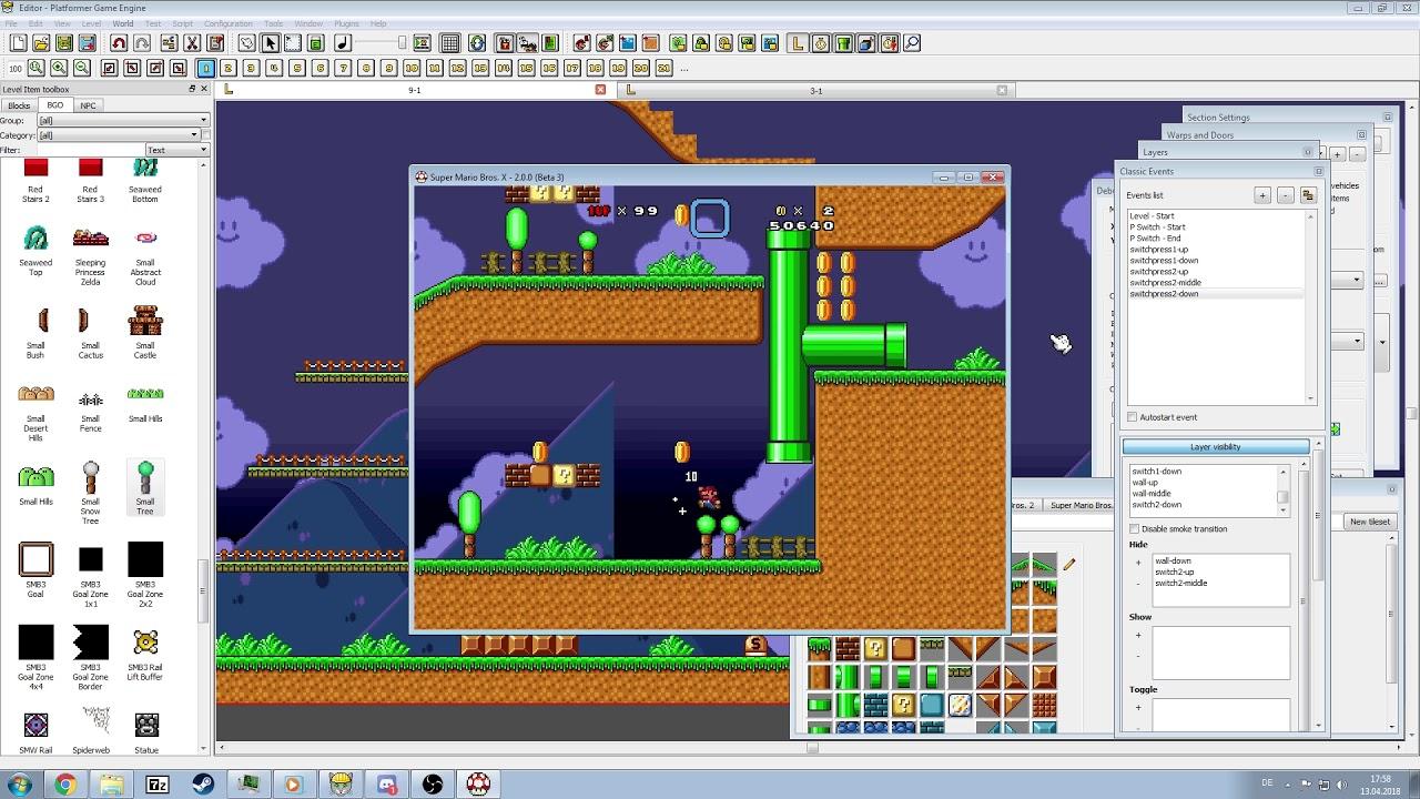 PGE [Super Mario Bros  X (SMBX)] - Speed Maker Showcase - Airship Attack 2  [Progress 2]