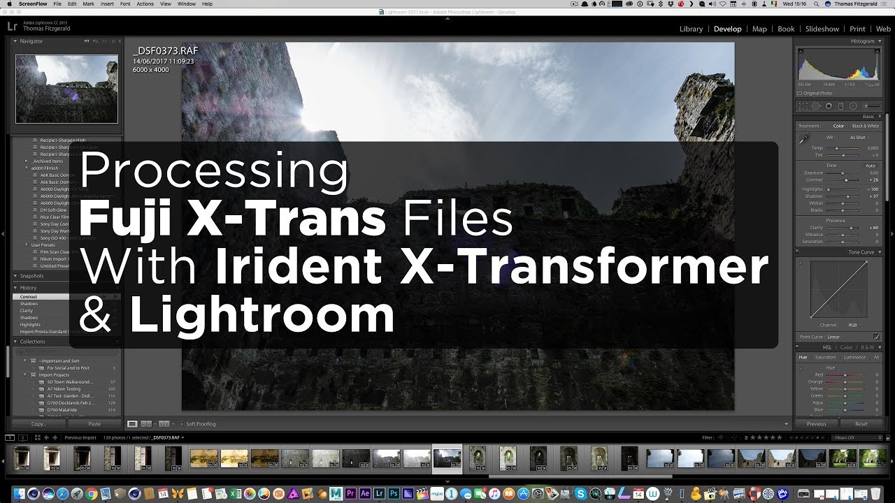 Watch how I use X-Transformer and Lightroom to edit Fuji Files