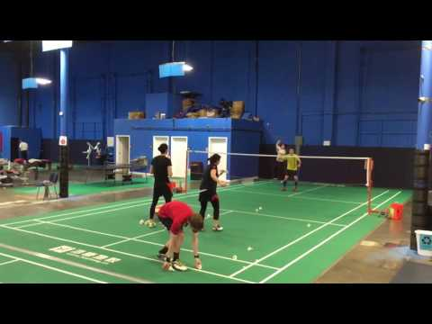 Multi-shuttle Training with coaches Jet and Eleen March 6 2017