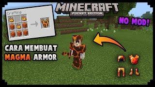 Cara Membuat Magma Armor Di Minecraft PE! No Mod | MCPE Tutorial