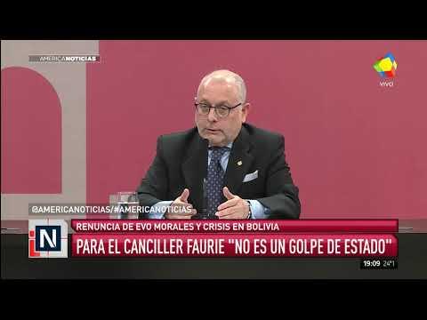 Faurie: Quieren dar la impresión de un golpe de Estado