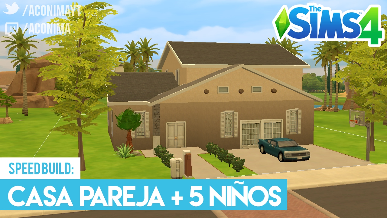 Sims 4 speed build casa familiar 5 ni os youtube for Sims 4 piani di casa