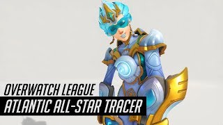Overwatch | Atlantic All-Star Tracer Skin Spotlight | All Cosmetics (Intros/Emotes/Poses) Gameplay