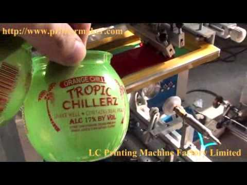 Silk Screen Bottle Printing Equipment Suppliers Round