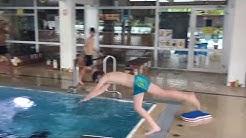 Schwimmen Kopfsprung-Sportunterricht