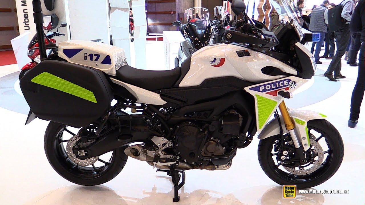 Yamaha Tracer 900 >> 2016 Yamaha MT09 Tracer Police Bike - Walkaround - 2015 Salon de la Moto Paris - YouTube