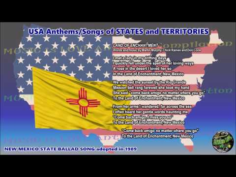 New Mexico State Ballad Song LAND OF ENCHANTMENT - NEW MEXICO with music, vocal and lyrics