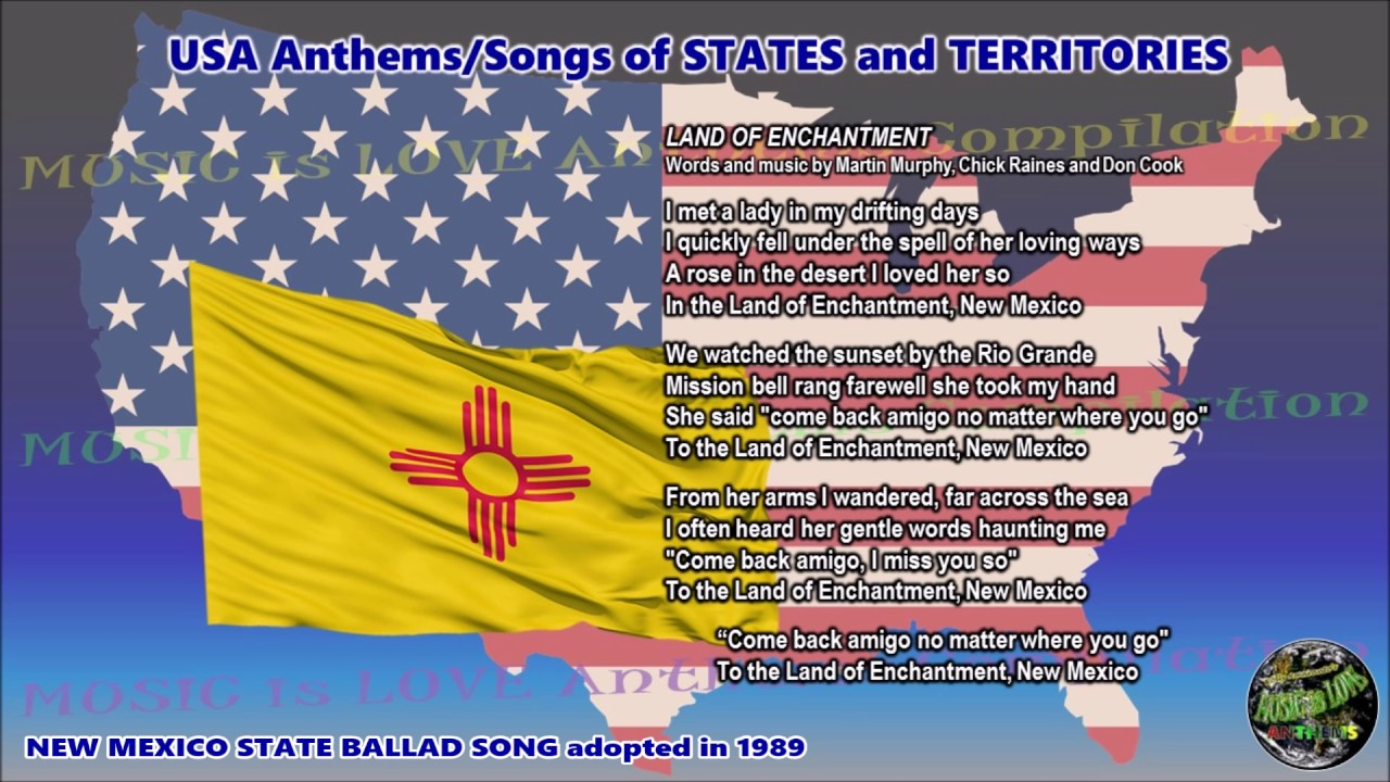 New Mexico State Ballad Song LAND OF ENCHANTMENT - NEW MEXICO with ...
