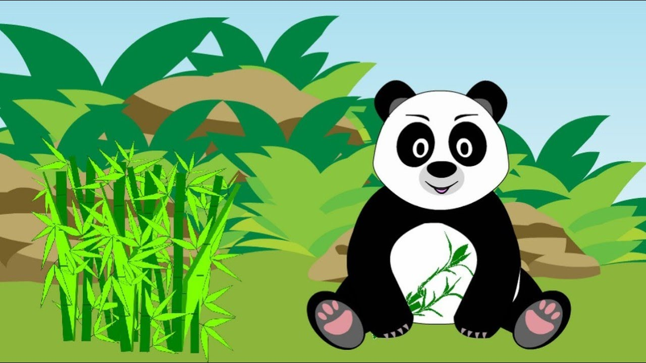 Tractor for children. Learn wild animals in English ...