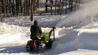 John Deere 180 with Snowblower Attachment