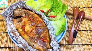 CÁ NƯỚNG SA TẾ | Cách nướng cá với giấy bạc thơm ngon | Bếp Của Vợ