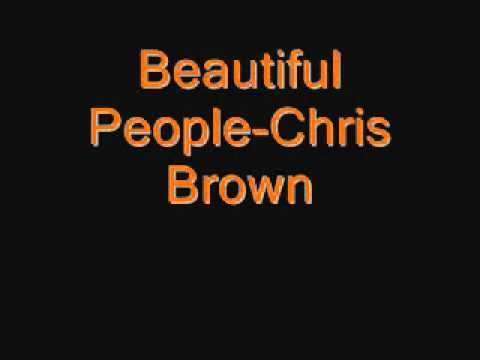 Beautiful People- Chris Brown Feat Benny Benassi (clean)