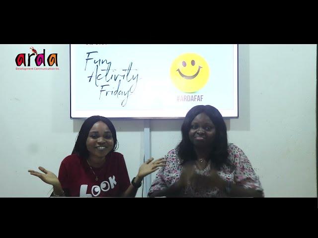 ARDA Fun Activity Friday #ARDAFAF - Episode 1