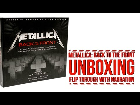 'Metallica: Back to the Front' - Flip-Through With Narration (Unboxing)