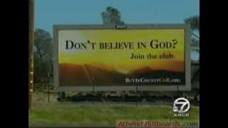 Atheist Billboard VANDALIZED - Chico, CA - Butte County Coalition of Reason - Local news