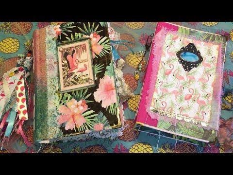 Tropical Life Junk Journal & Flamingo JJ / Etsy Listed | I'm A Cool Mom
