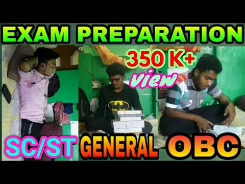 EXAM PREPARATION OF DIFFERENT CATEGORIES STUDENTS SC/ST , OBC , GENERAL
