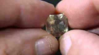 Pink schiller effect in Oligocloase Feldspar gemstone