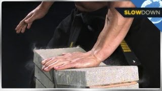 Ninja Breaks Bricks in Slow Motion