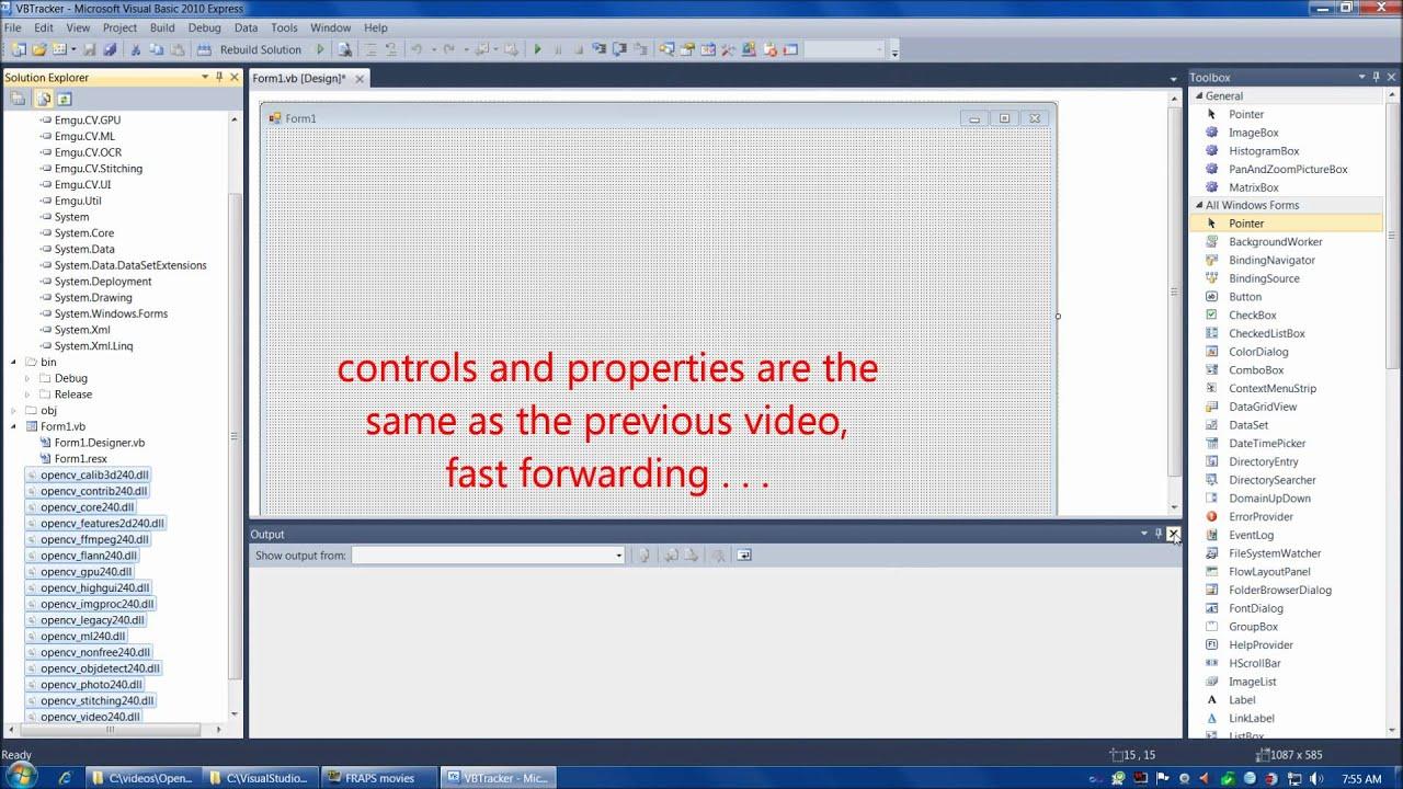 OpenCV tutorial 6: Emgu CV with Visual Basic
