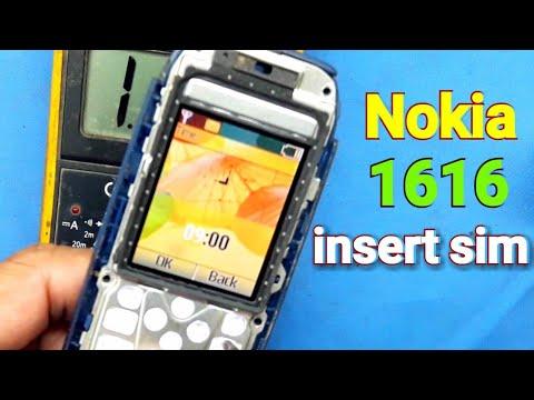 Nokia 1616 insert SIM solution //