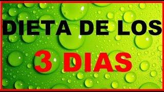 Dieta de los 3 Dias Baja hasta 5 kilos en 3 Dias