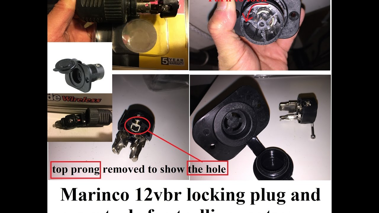medium resolution of a close up look of marinco trolling motor receptacle part 1 of 2