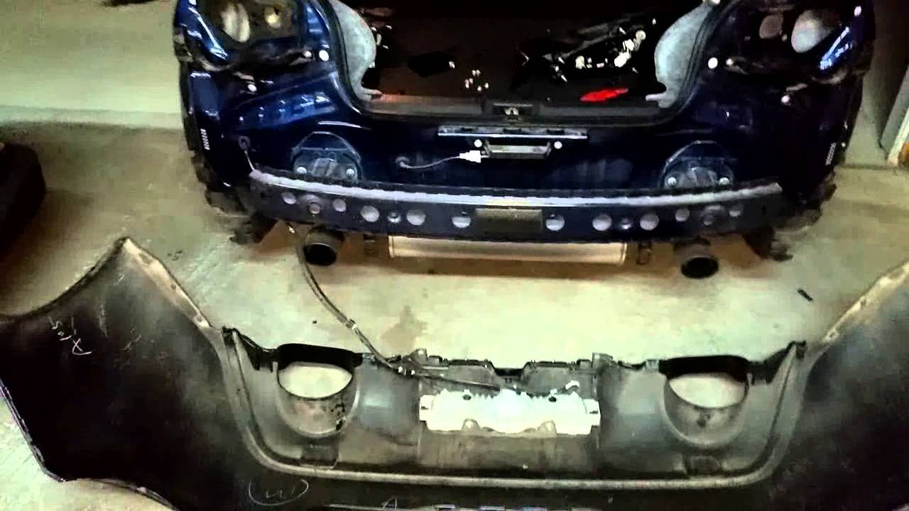 Front Bumper Repair >> BRZ FR-S How To Remove Rear Bumper - YouTube