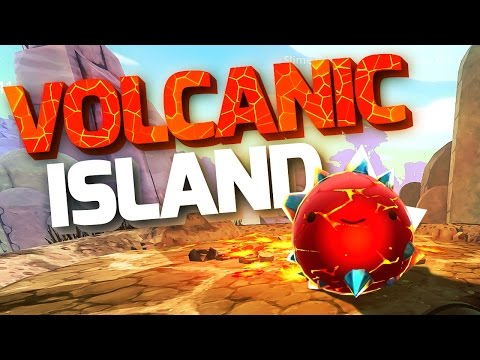 NEW VOLCANIC ISLAND! - Slime Rancher Update Gameplay - Slime Rancher Crystal Slimes and Volcano