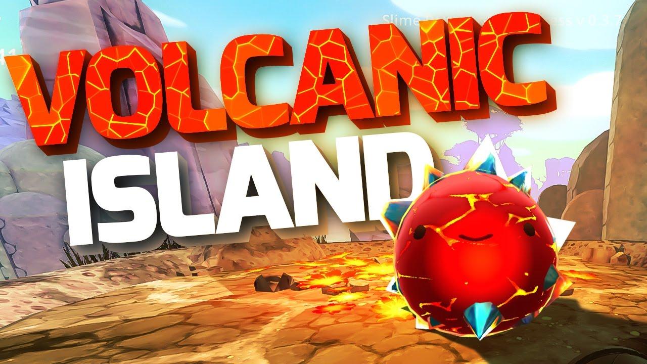 NEW VOLCANIC ISLAND! - Slime Rancher Update Gameplay - Slime