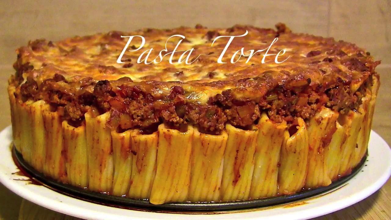 Nudelauflauf Mit Hackfleischsauce Nudelkuchen Pasta Torte