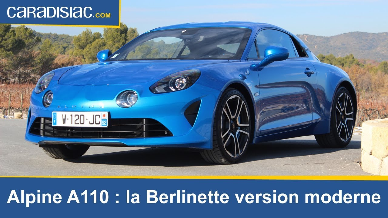 alpine a 110 la berlinette version moderne youtube. Black Bedroom Furniture Sets. Home Design Ideas