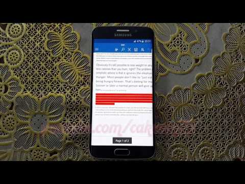 Microsoft Word For Android : How To Change Text Font Color In Samsung Galaxy S6