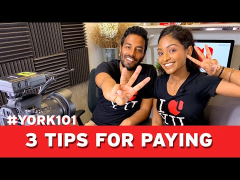 Registration Deposit and Tuition - 3 Tips for Paying | #YORK101 Finances