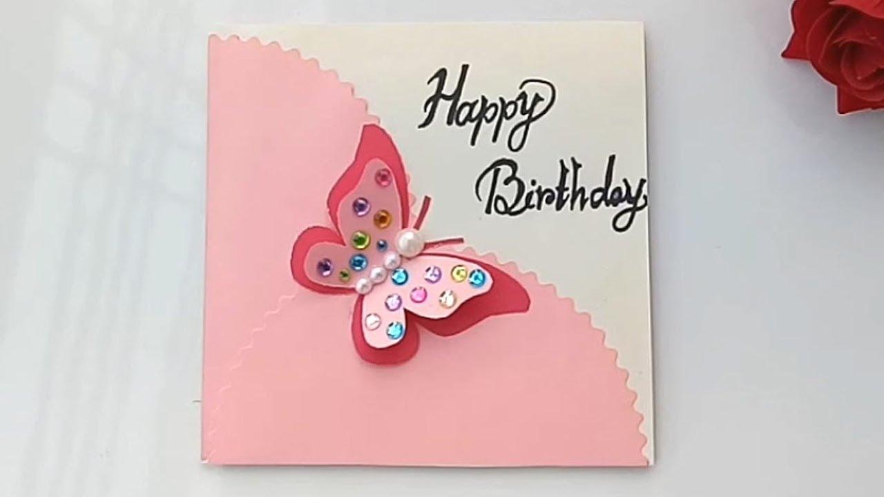 Handmade Butterfly Birthday Card/ Birthday Card Idea