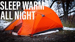 How To Sleep Wąrm All Night In The Winter | Winter Gear