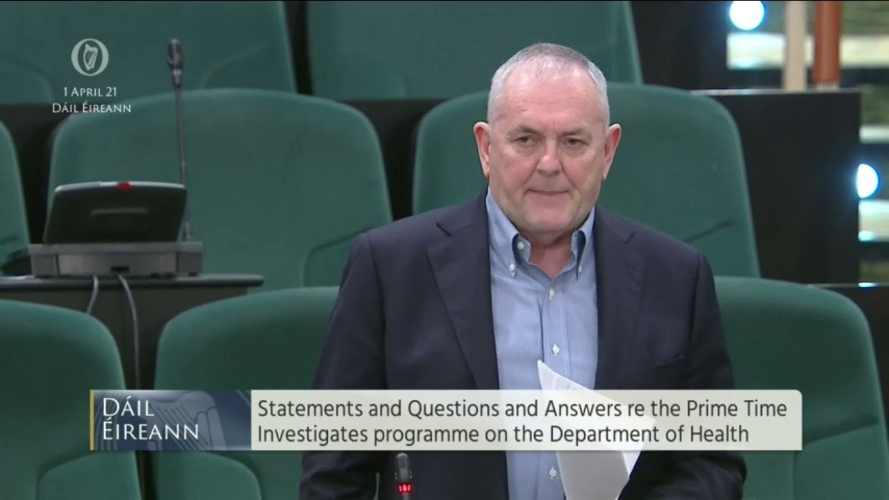 Questions -Department of Health re the Prime Time Investigates programme on the Department of Health