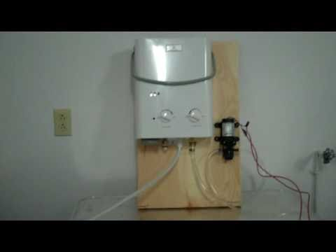 Eccotemp L5 Water Heater Flojet Lf122202a Water Pump Test Youtube