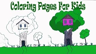 Coloring Pictures Kids Coloring Pages A House