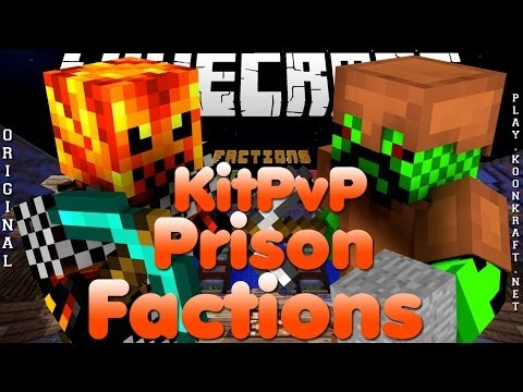 Divulgação de Server Minecraft 1.7.2/1.7.4/1.7.5 Prison, Factions e KitPvP [Original]