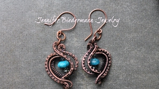 Super easy and fast wire weave earrings tutorial