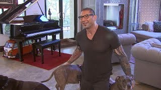 At home with former WWE superstar turned actor Dave Bautista