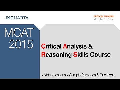 MCAT 2015 Critical Analysis and Reasoning Skills (CARS)