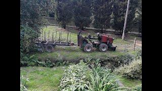 Ciągnik SAM - Mini LKT 1.6 TURBO 4x4  [ łamaniec ] - Praca w lesie